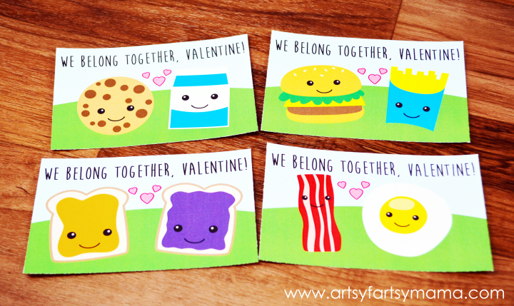 "Free Printable ""We Belong Together"" Valentines at artsyfartsymama.com"