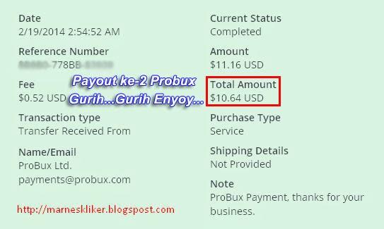 Payout ke-2 Probux Super Instant Buanget