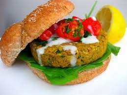 Falafel Burgers With Hummus