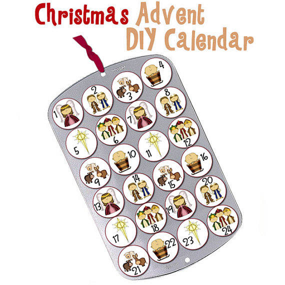Reusable nativity advent calendars with this method you can choose what kind of surprises youd like to put in for each day you are paying for the graphics which you print out and put on solutioingenieria Choice Image