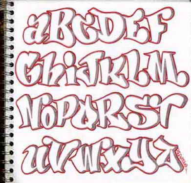 Graffiti Letters Alphabet 2011
