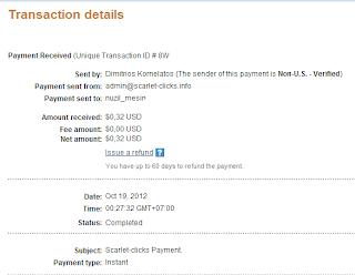 bukti pembayaran dari scarlet clicks
