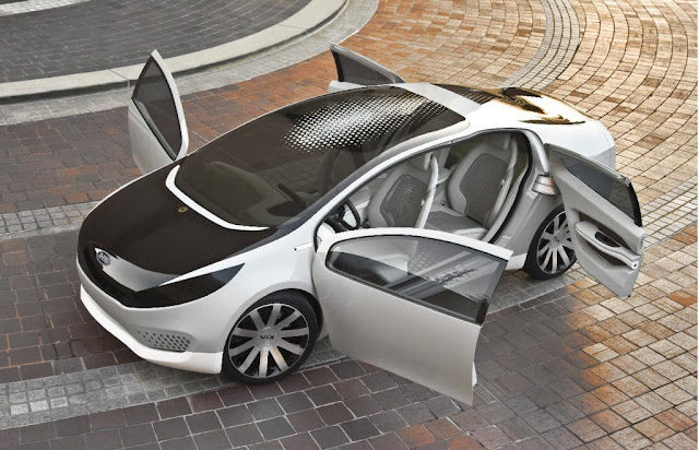 The Hybrid Concept Kia Ray-at the Chicago Auto Show, The company Kia will present in late September at the Paris motor show concept of urban electric trolley Pop. Soon the Korean automaker promises to tell about the technical characteristics of the car.