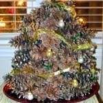 Rustic Pine Cone Christmas Tree