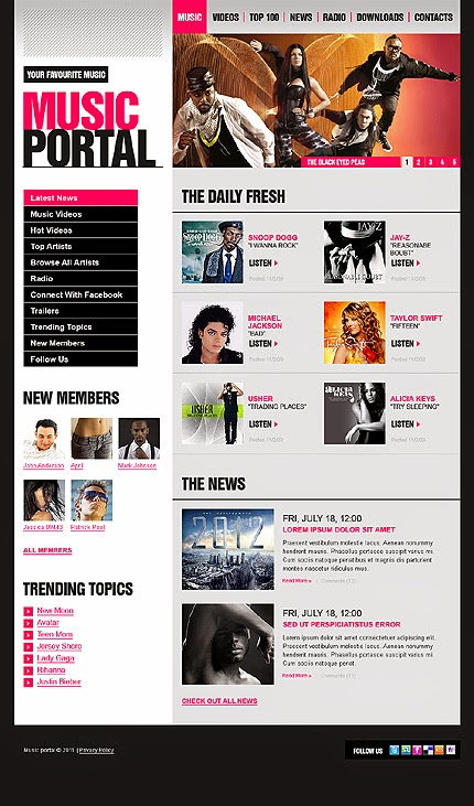 Music Portal - Blogger Template
