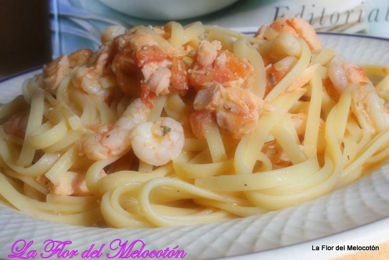 Image Result For Receta Espaguetis Con Salmon Gambas