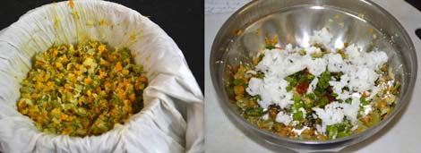 preparing vegetable for veg manchurian