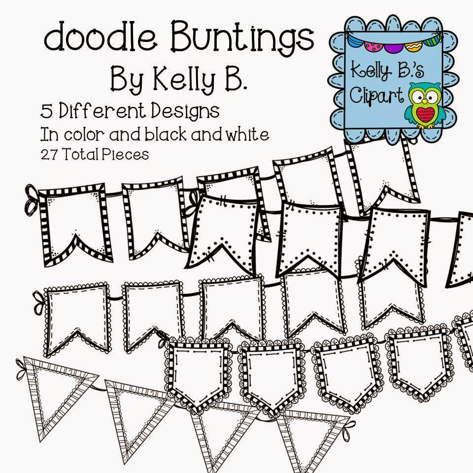 http://www.teacherspayteachers.com/Product/Doodle-Bunting-by-Kelly-B-1424059