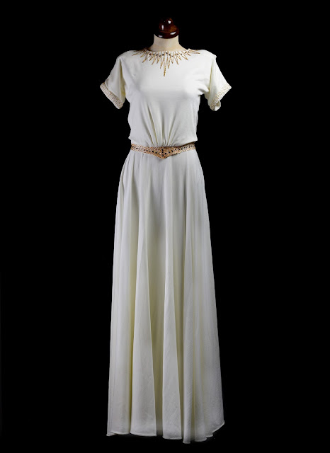 1940s beaded crepe wedding dress by alexandra king bridal