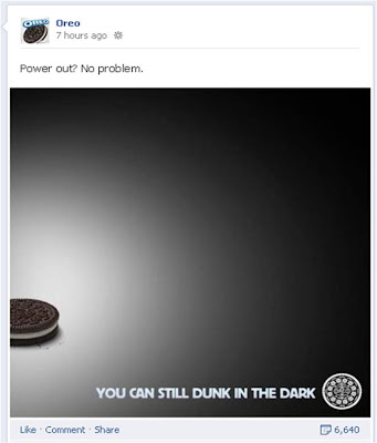 Oreo Super Bowl power outage Facebook