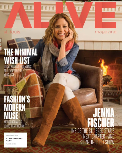 Actress, @ Jenna Fischer - Alive magazine, December 2015