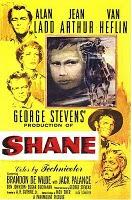 Western Movie: Shane starring Alan Ladd, Jean Arthur, Van Heflin