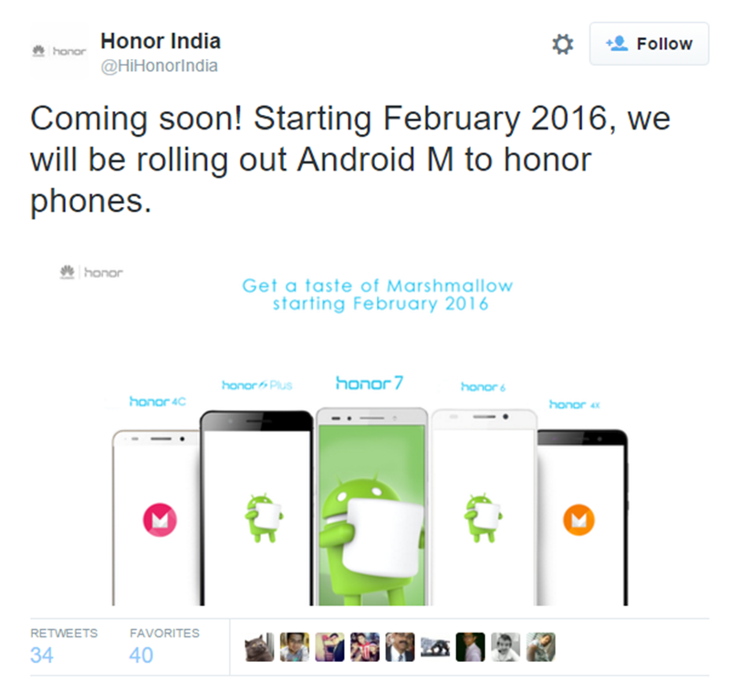 Honor India Confirms Marshmallow Update For Several Honor Phones This February 2016!