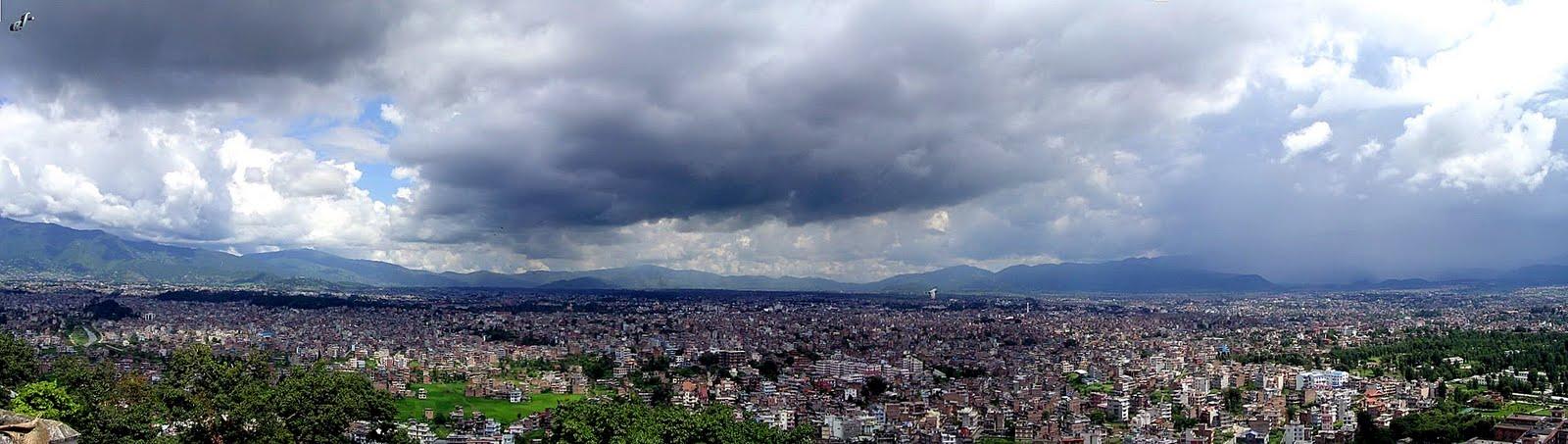 Vista panorámica de KATHMANDÚ.