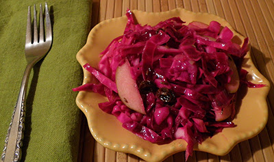 Plate of Hot Cabbage Slaw