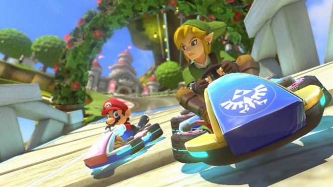 Mario Kart 8 DLC inviting Link, Villager, and F-Zero