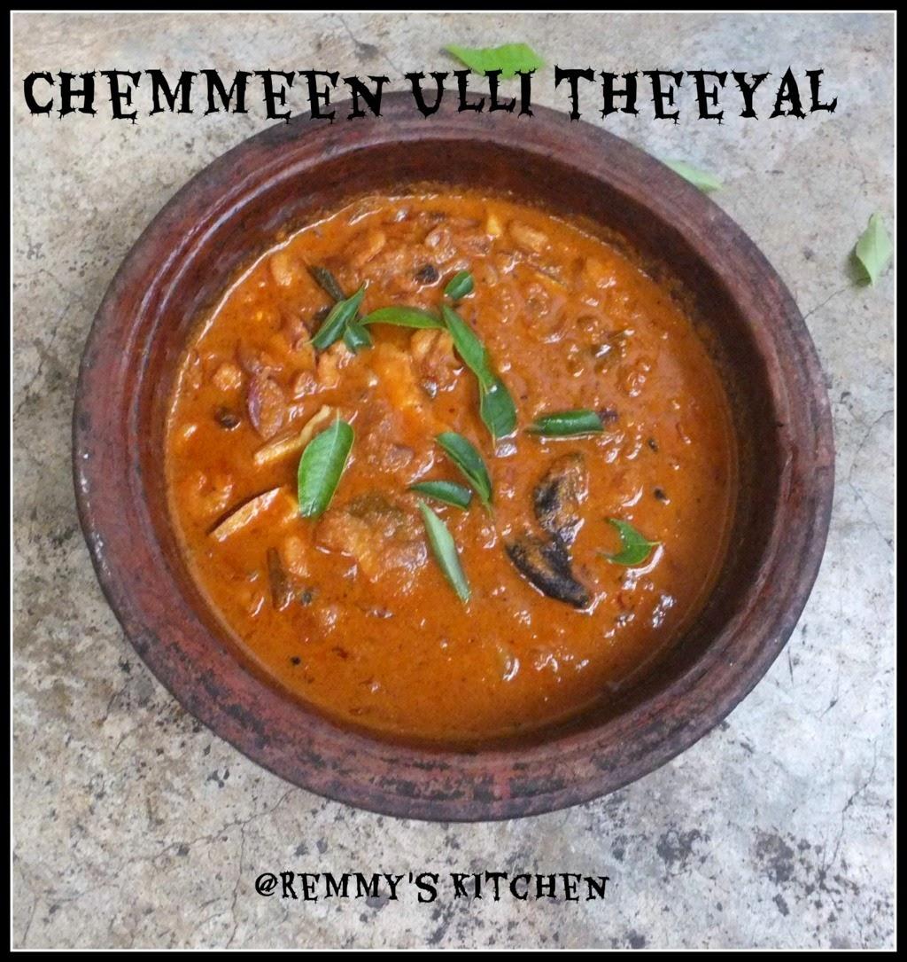 Chemmen Ulli Theeyal Recipe