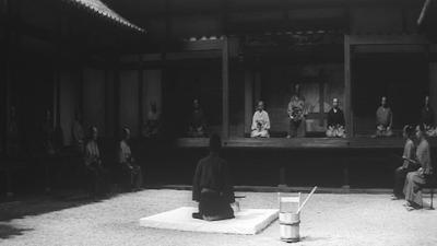 Harakiri, Hanshiro Tsugumo in The Majestic White-Pebbled Courtyard, directed by Masaki Kobayashi