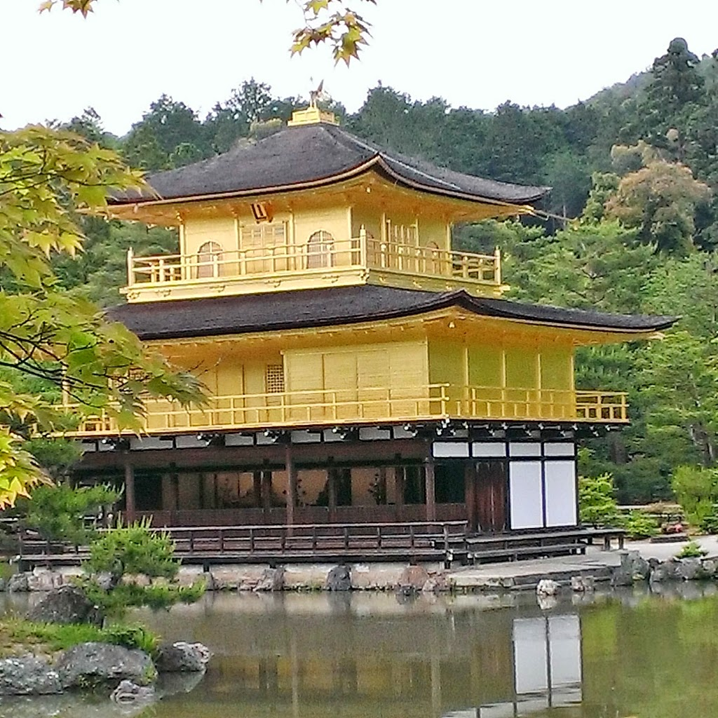 Kinkaku-ji, I can't confirm if it is real gold ;)