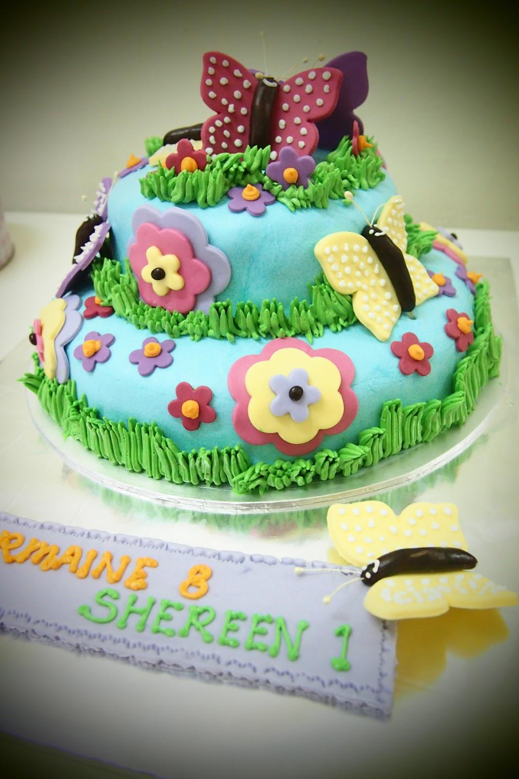 AniesBakeHouse: Beautiful Butterflies Theme Cake