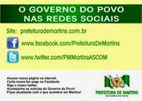 Prefeitura de Martins - Mídias Sociais