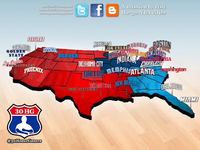 nba map, teams, cities