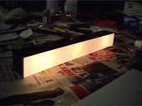 Styrene plastic light diffuser box