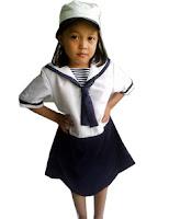 kostum profesi pelaut untuk anak