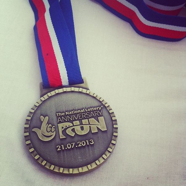 national lottery olympic park run medal