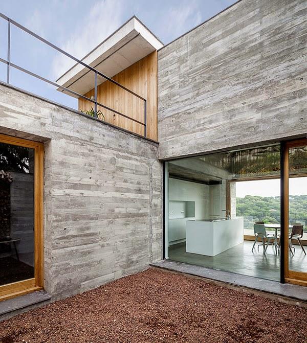 Casas minimalistas y modernas casa de hormigon en estilo - Casas minimalistas en espana ...