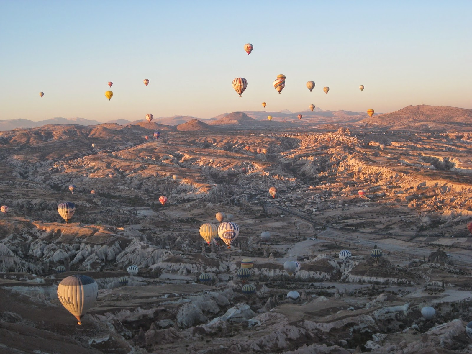 Cappadocia - It's fun to look at other hot air balloons and the scenery
