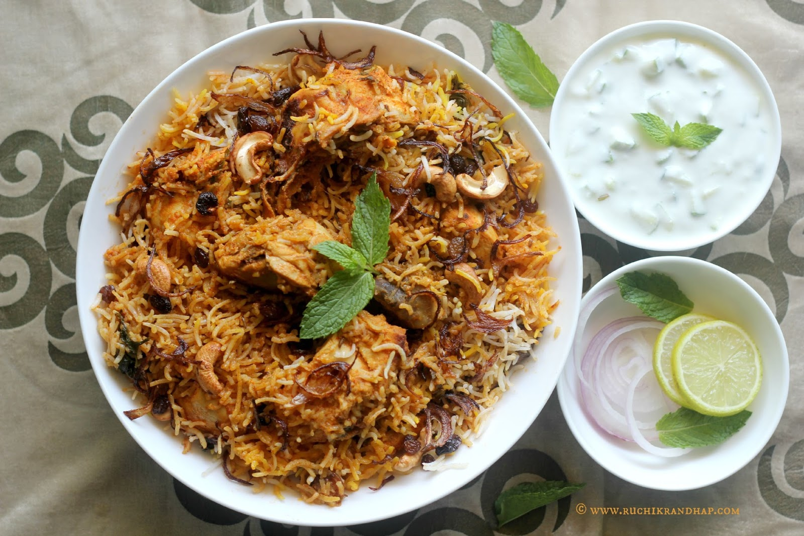 ruchik randhap delicious cooking chicken hyderabadi biryani