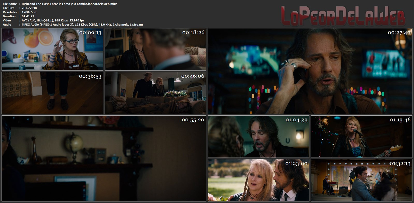 Ricki and the Flash BRrip 720p Latino 2015 [Mega]