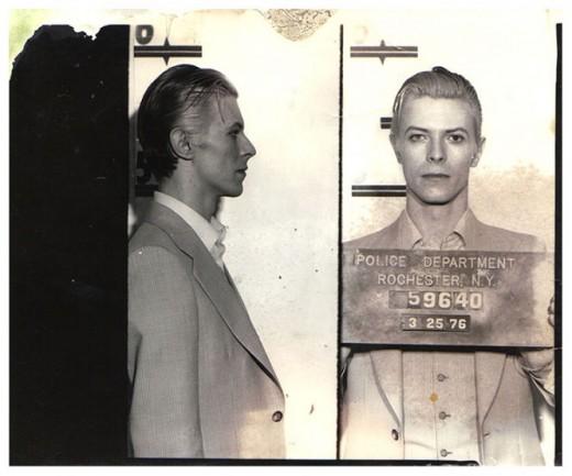 mugshot David Bowie 1976