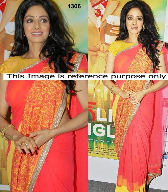 Sridevi Red saree @ English Vinglish Promotion
