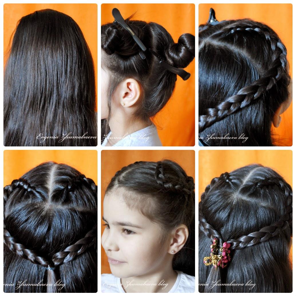 Как сделать сердечки из волос 48