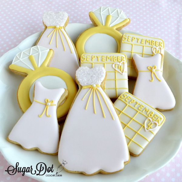 Sugar Cookies For The Bridal Party