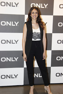 Aditi Rao Hydari looks Stunning with slim figure white tank top and Black Trousers High Hills