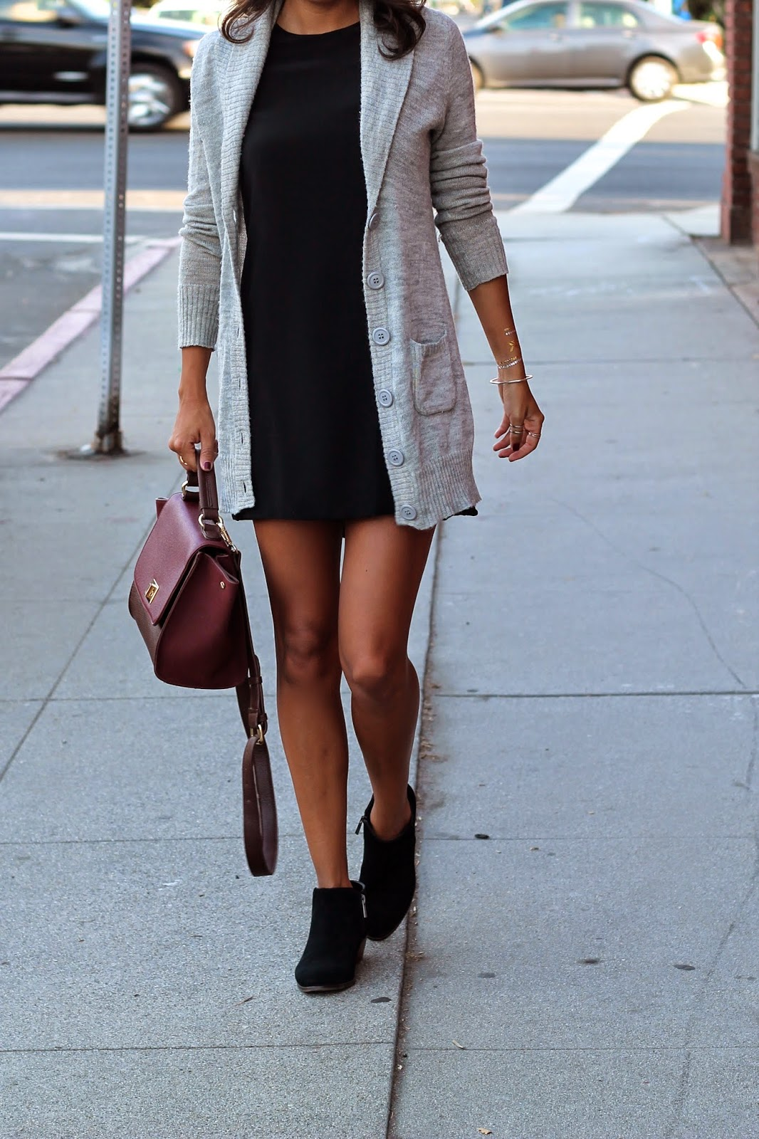 fall fashion, how to layer for fall, LBD, sole society, stylist LA, flash tattoos