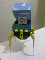 Papercraft máquina do tempo