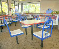 fast food dining area