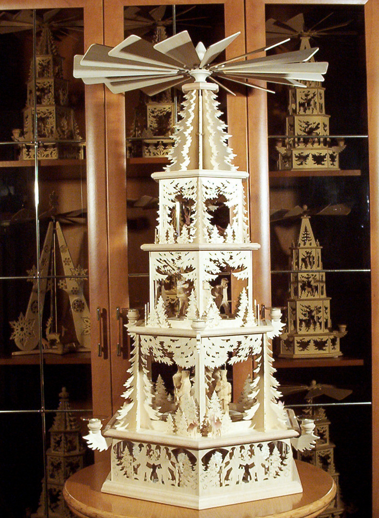 Oh, by the way...: Schwibbogen, Christmas Pyramid, and Angel Chimes