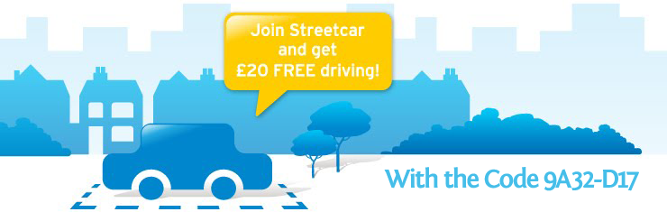 Streetcar Voucher - £20 free driving credit for new members