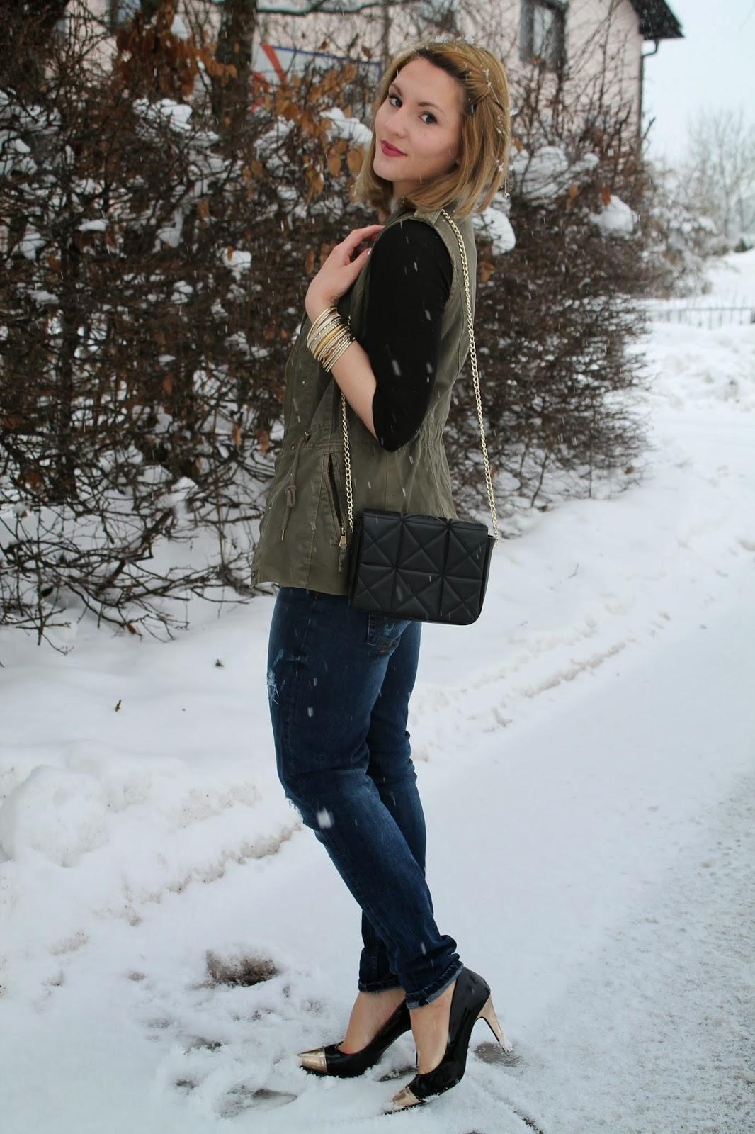 Fashionblogger Austria Österreich Kärnten Carinthia Klagenfurt Winter Style Winter Look Winter Fashion Fashion Even and Odd Takko Zara H&M Stripes Boyfriend Jeand Ann Christine