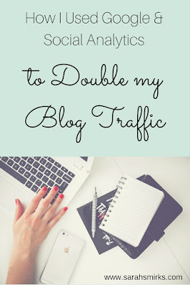 How to use analytics to help you double you blog or small business website traffic - click to get the free printable worksheet | Sarah Smirks