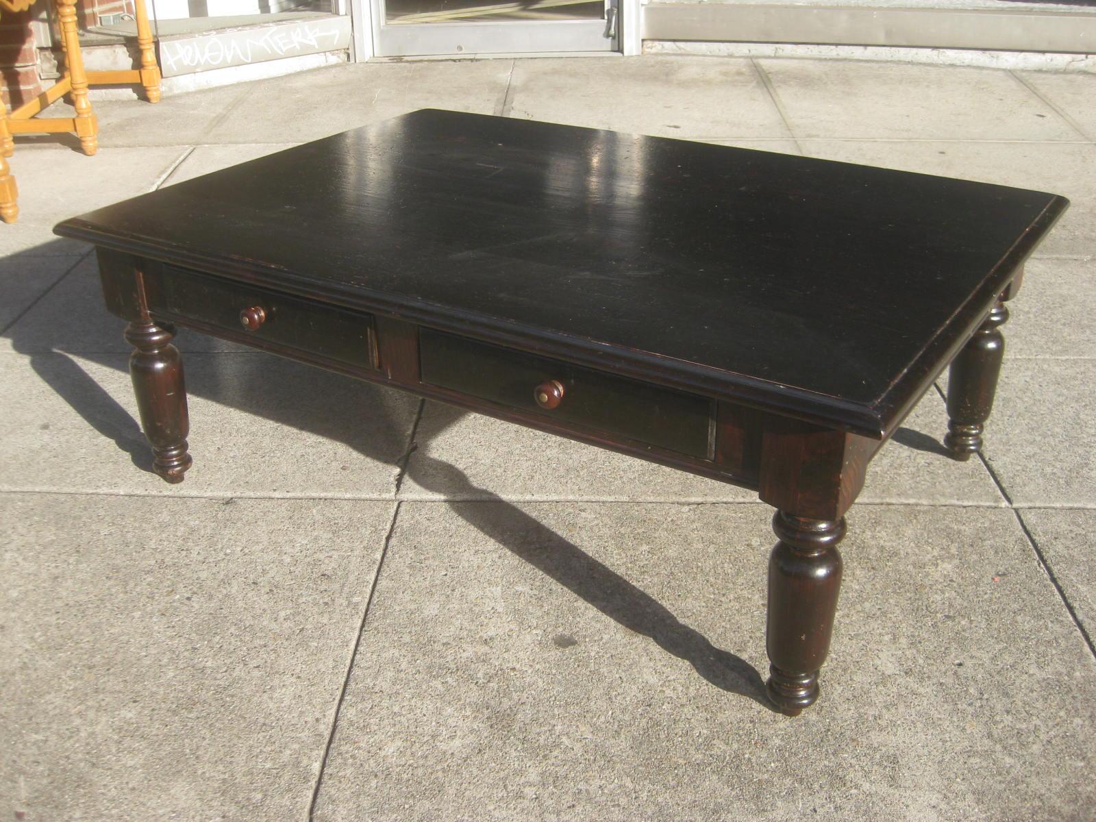 Uhuru Furniture Collectibles Sold Large Pine Coffee Table 95