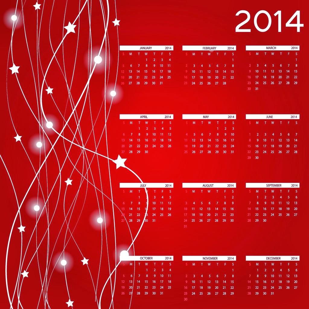 2014 Happy New year Calendar