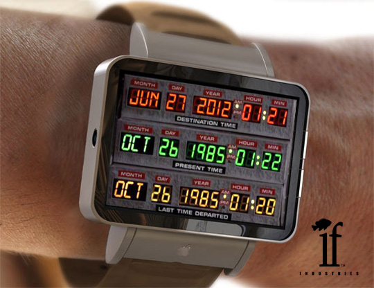 If Industries Back To The Future Quot Time Circuits Quot Concept Wrist Watch