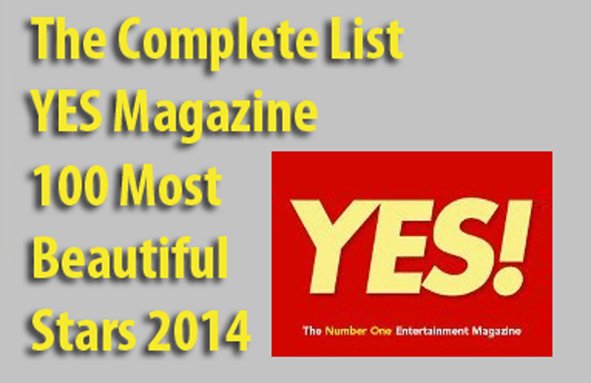 The Complete List YES Magazine 100 Most Beautiful Stars 2014