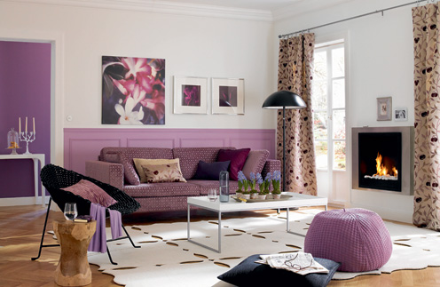 For Those Interested In The Living Room Chic Violet Color Design Click Here To
